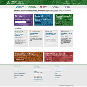 Screenshot of Addison County Solid Waste Management District website