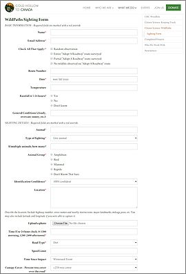 CMS integrated online forms - Vermont