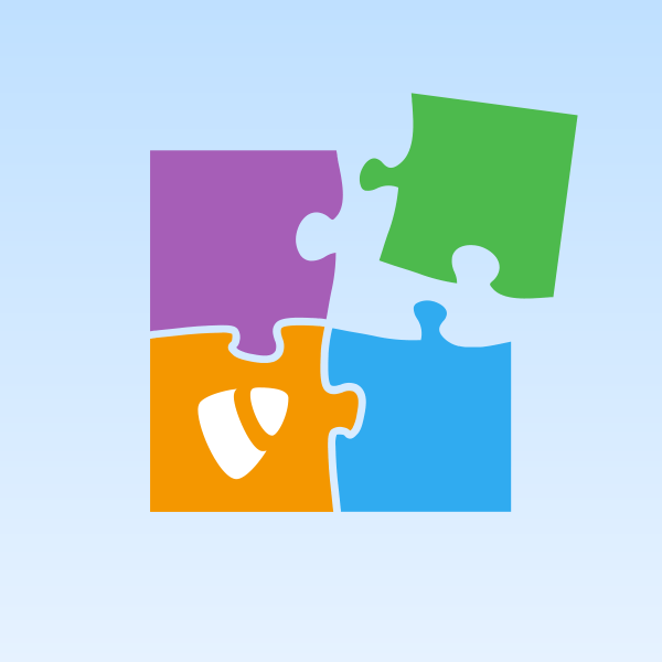 Illustration of puzzle pieces representing app integrations